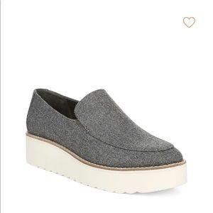 New Vince Zeta Platform Flannel Loafers Slip On 9